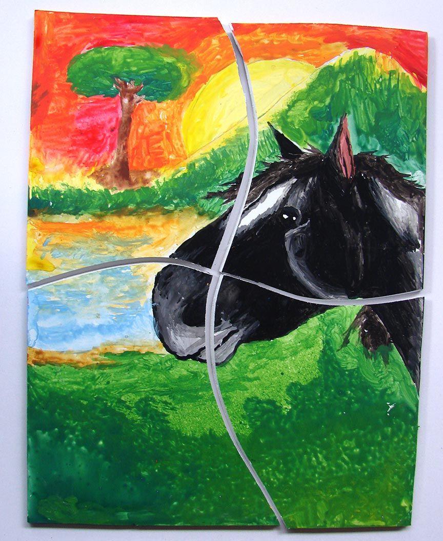 Rompecabezas Pictorico Art Painting Horses
