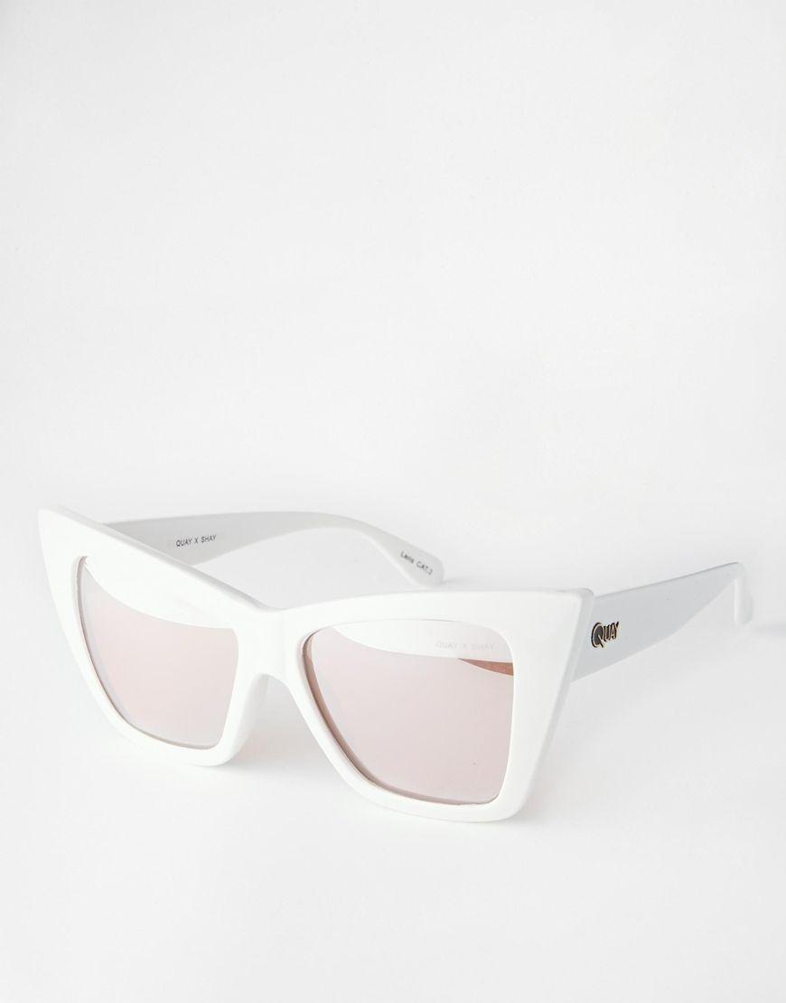 cded4082329d5 Quay Australia X Shay Vesper Mirror Cat Eye Sunglasses