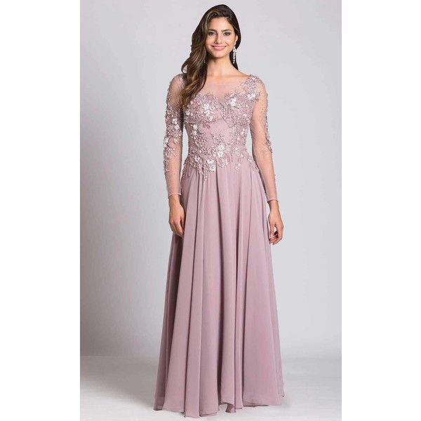 6e869a328d62 Lara 33494 Special Occasions Long High Neckline Long Sleeve (3.160 DKK) ❤  liked on