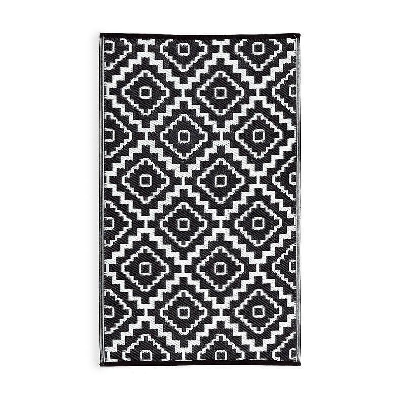 Teppich Outdoor Marokko schwarz ca B150 x L206 cm Dachterasse - teppich für küche