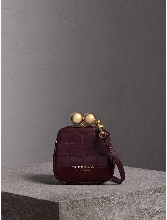 957c7b1ab803 Mini Alligator Frame Bag in Dark Claret - Women in 2019