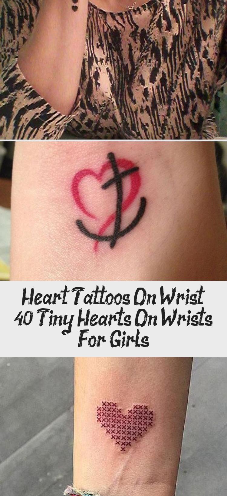 Dotted small heart tattoo on a wrist bighearttattoo