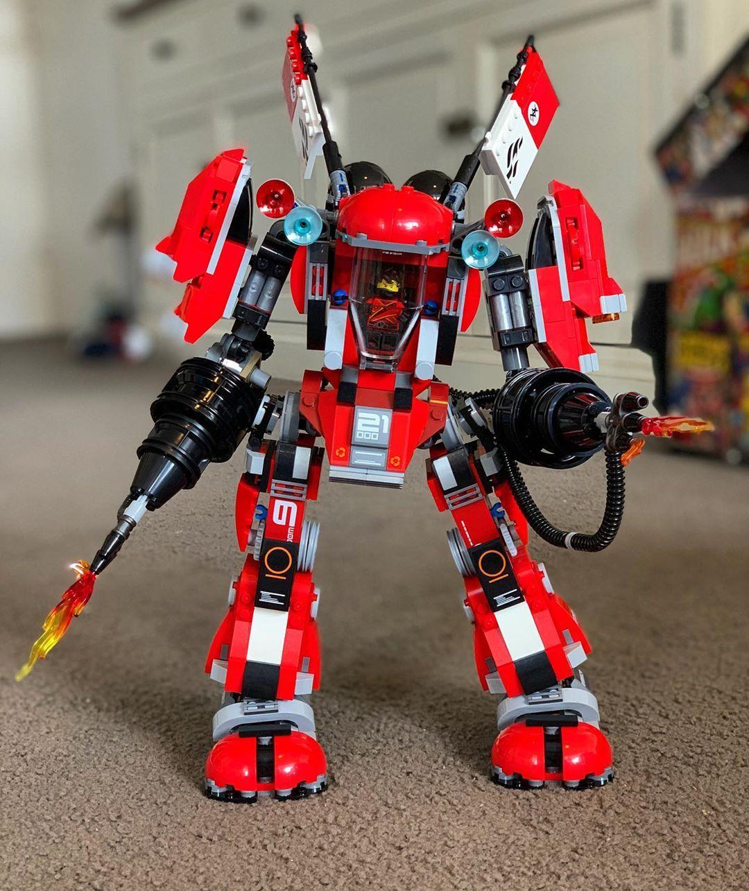 Fire Mech Built Lego Ninjago Ninjago Lego Lego Building Vehicles