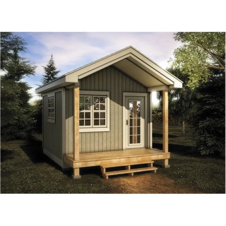 12 X 12 Bunkie With Vinyl Board And Batten Siding Home Hardware Boardandbattensiding 12 X 12 Bunkie With Vinyl B In 2020 Vinyl Board Bunkie Modern Farmhouse Plans