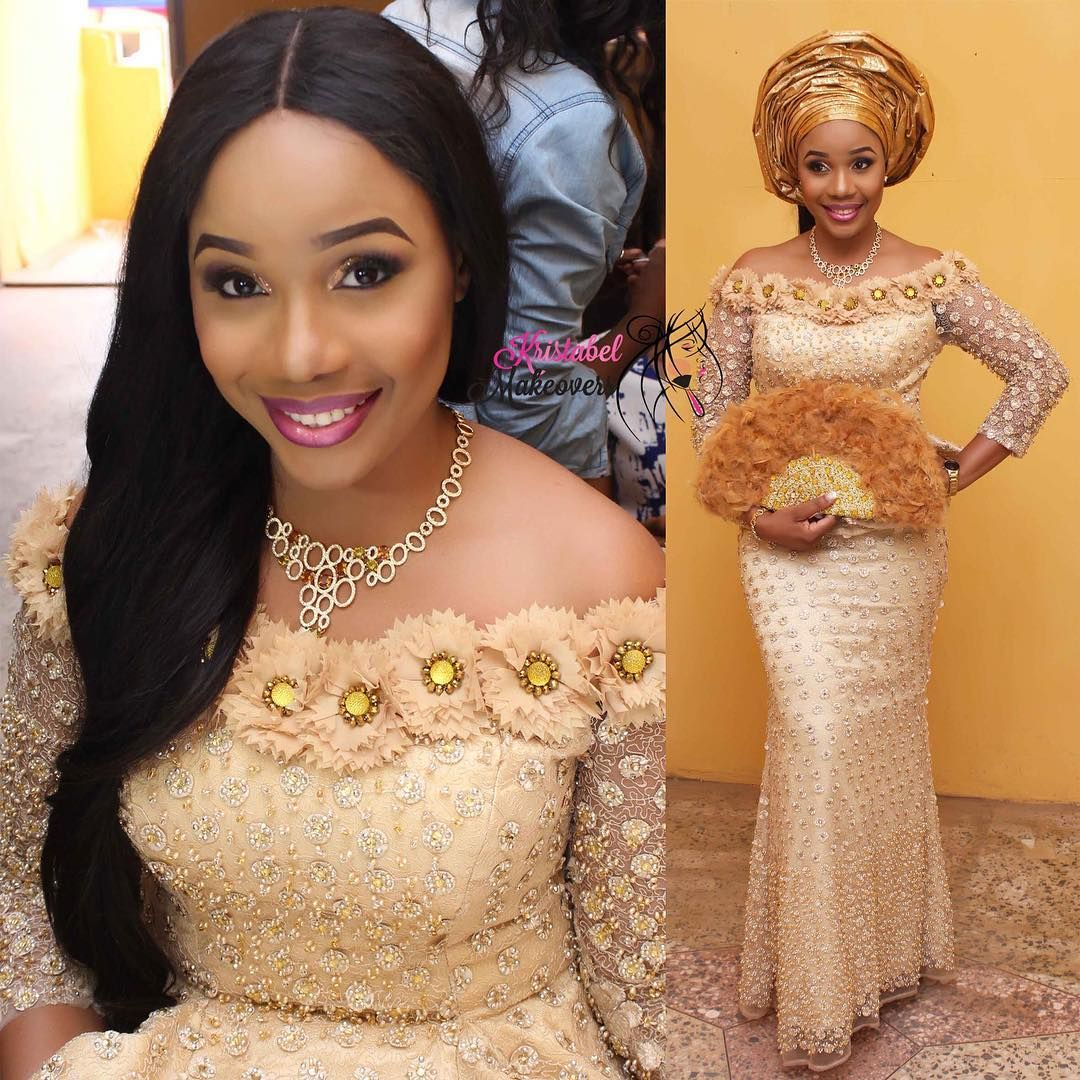African wedding dresses for guests  Adorable Ada  chadarh Makeup by kristabelmakeovers