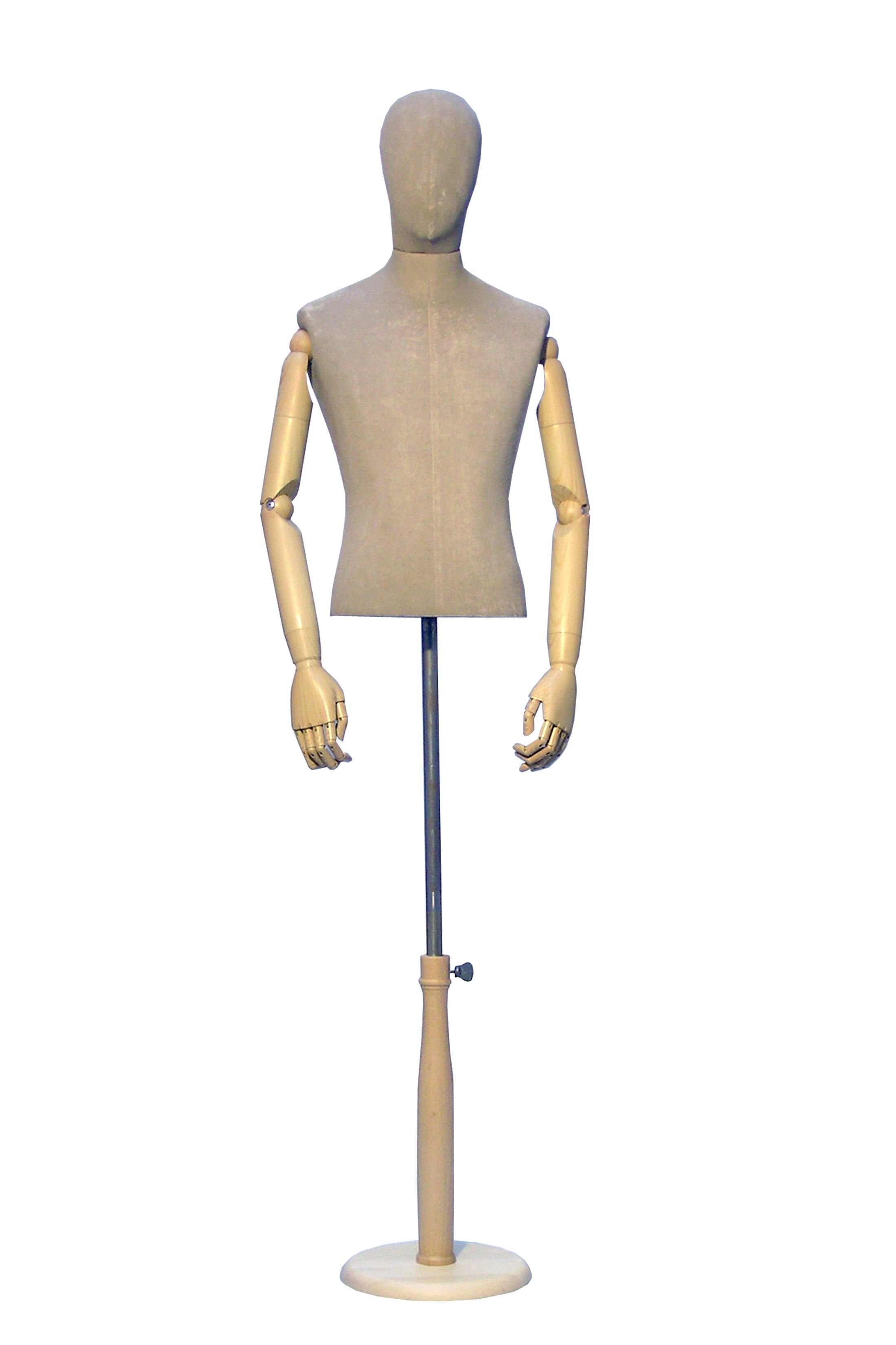 Male bust form with head + arms | Mannequins | Bust form | Vintage mannequin - http://www.heartbeatuk.com/male-bust-form-with-head-and-arms/product/607