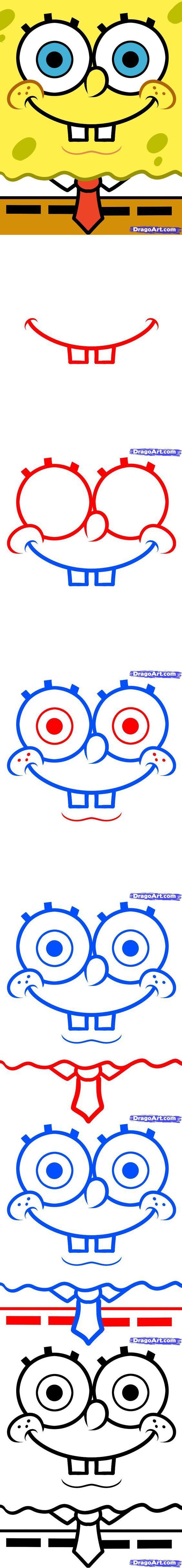 How to Draw Spongebob Easy | Spongebob drawings, Spongebob ...