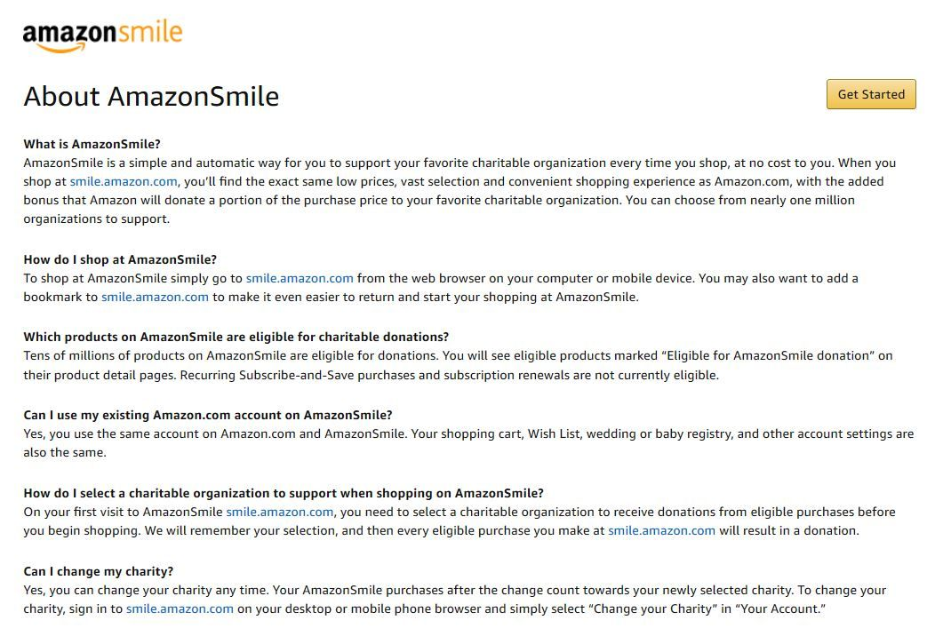 Do A Good Deed With Amazon Smile It S Free And Helps Charities