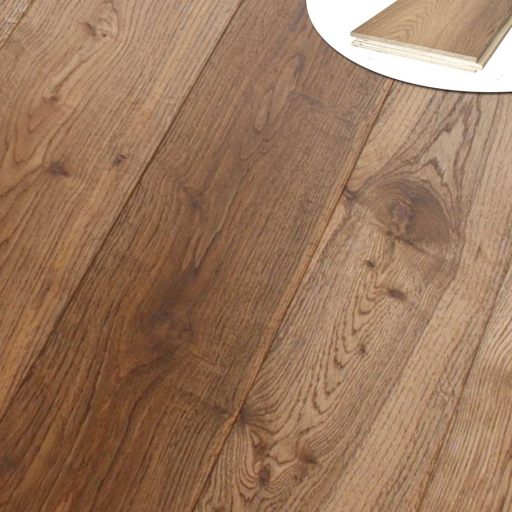 20 6 190mm Wide Engineered Oak Floor Boards Smoked And Oiled Oak Floors Engineered Oak Engineered Oak Flooring
