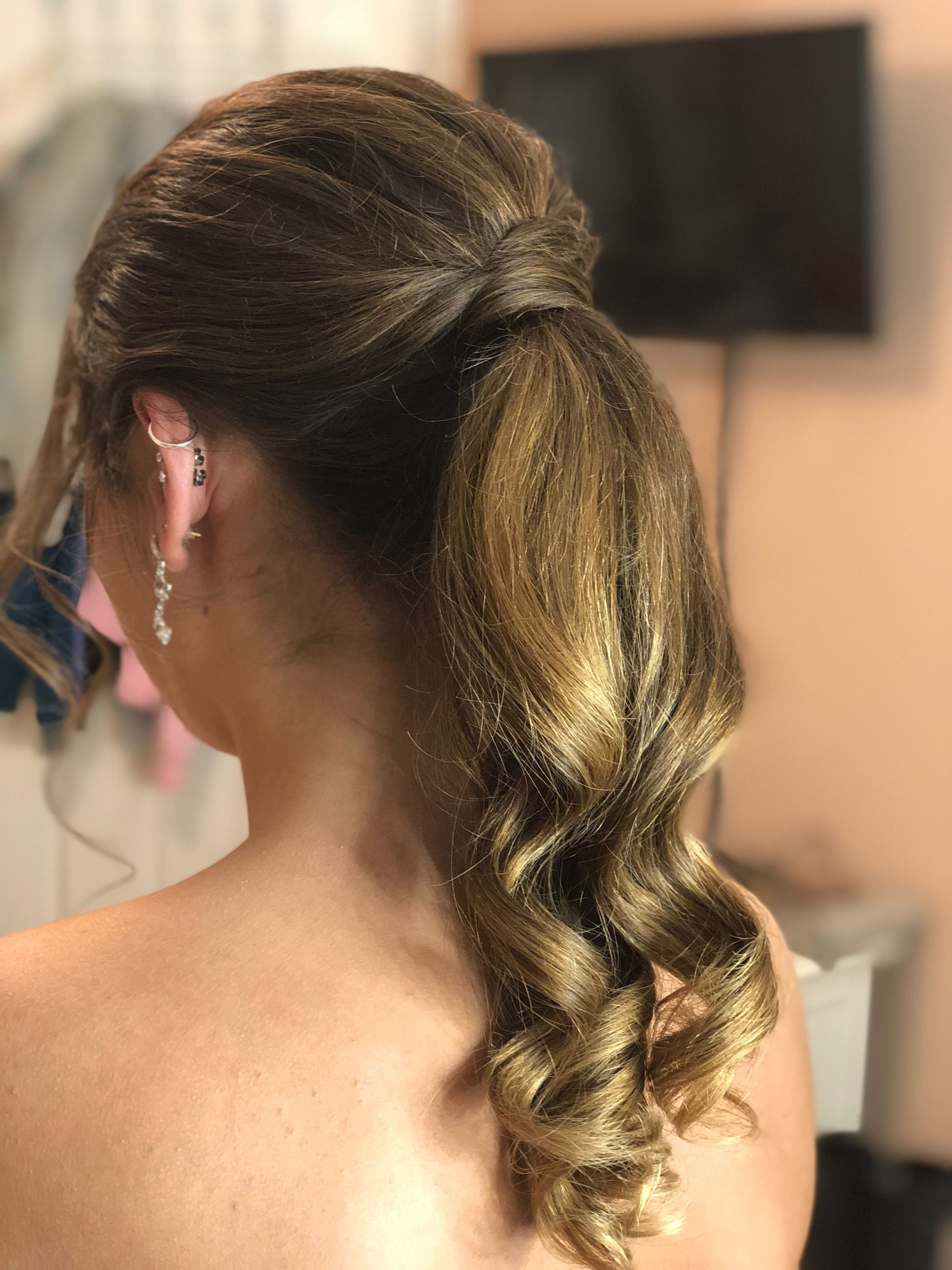 prom ponytail hairstyle | bella rococo at emilia's | prom