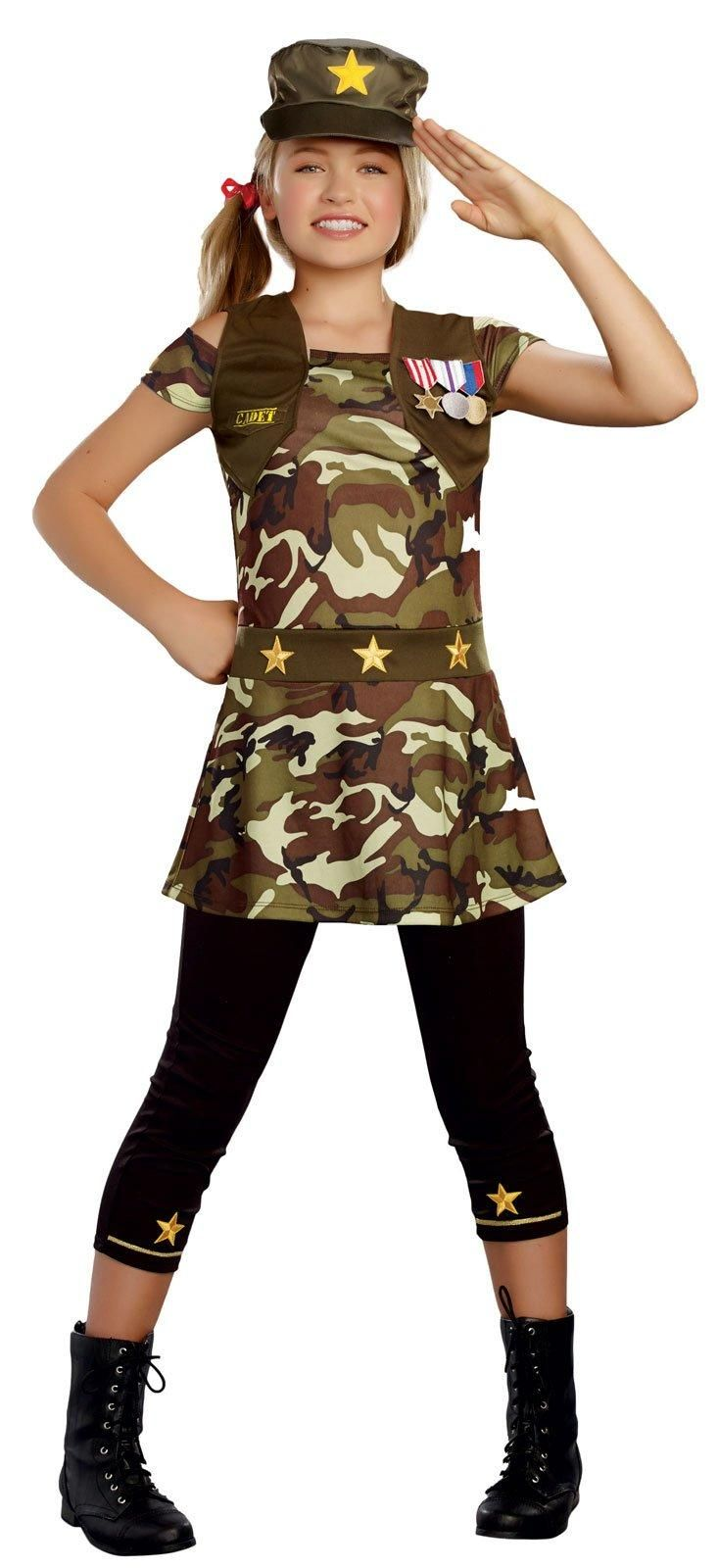 Cadet Cutie Costume For Tweens from Buycostumes.com ...