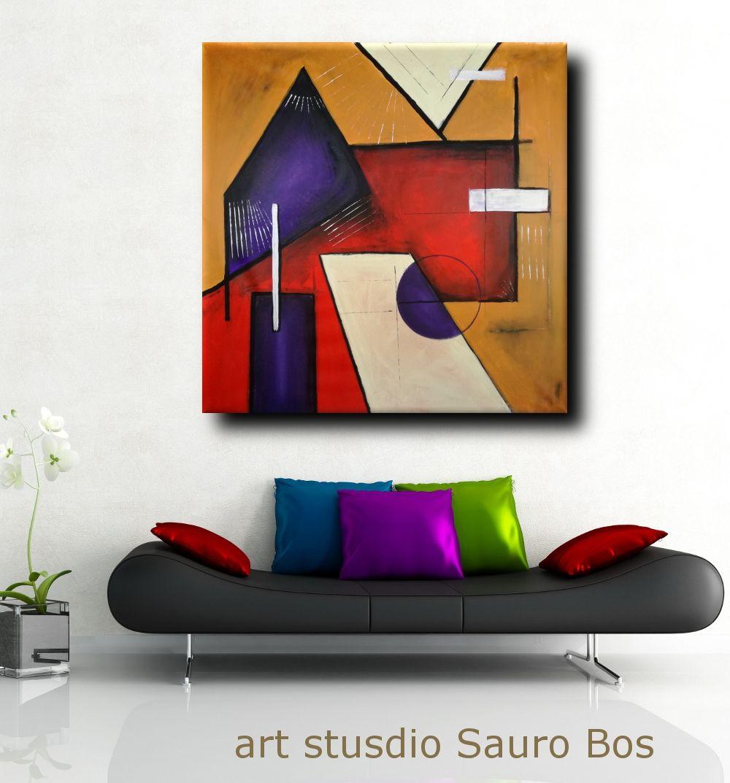 Quadri Moderni Geometrici 120x120 Con Immagini Quadri Astratti