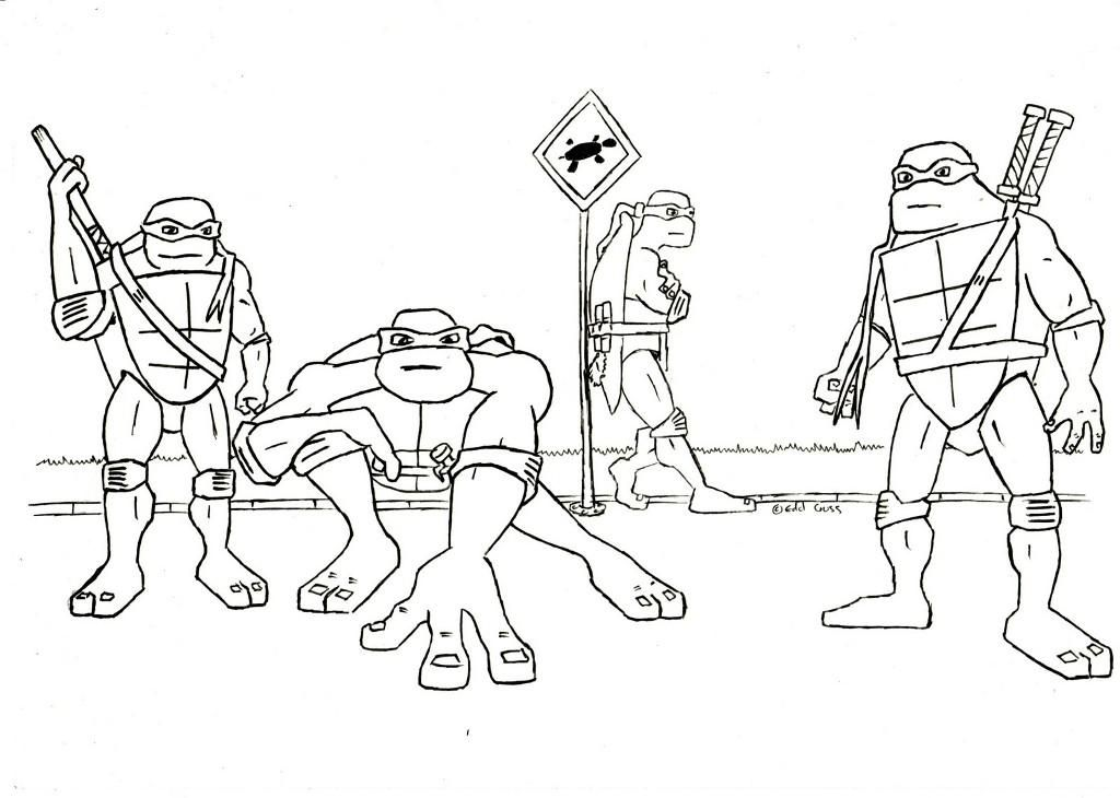 coloring pages turtles ninja songs - photo#10
