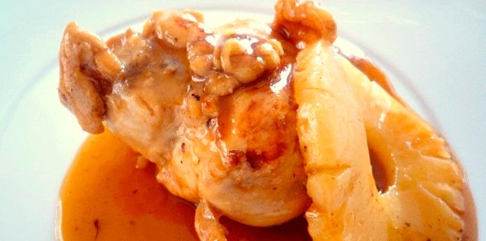Receta de pollo con salsa de  piña y miel