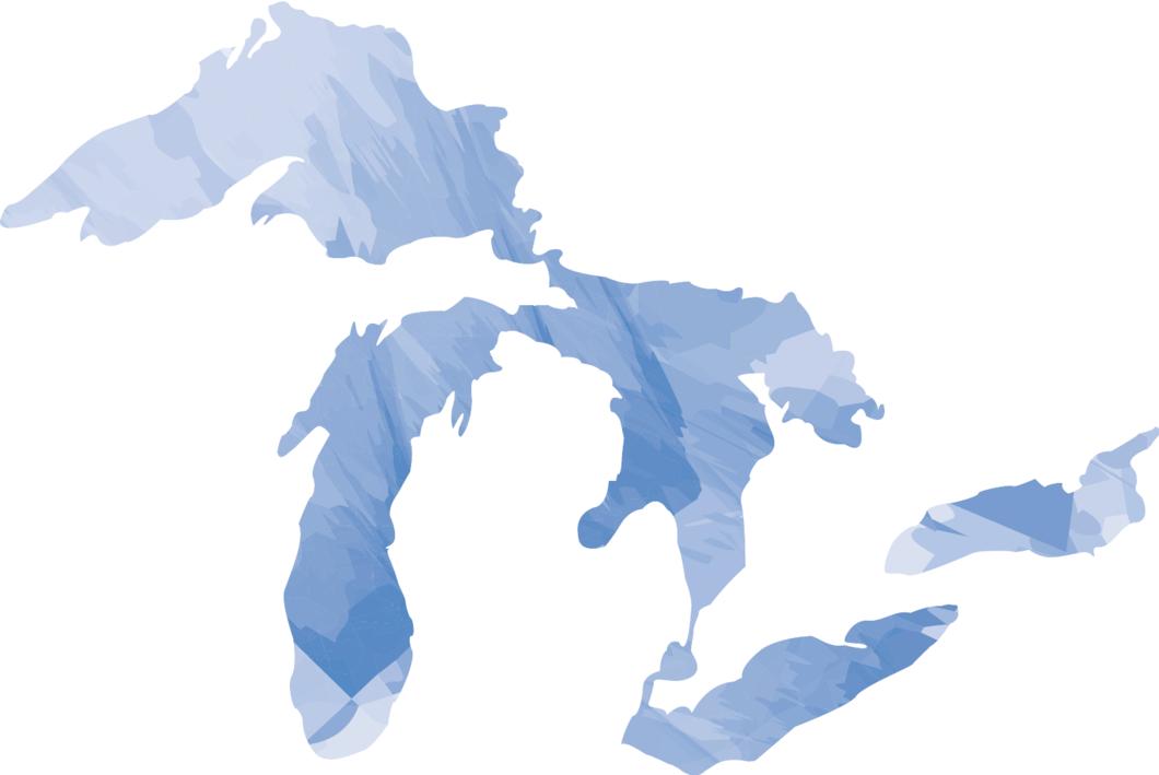 Great Lakes Sticker Watercolor Watercolor Stickers Watercolor Great Lakes