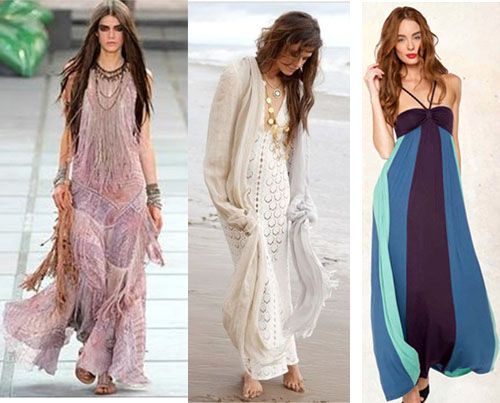 Abiti maxi e stile boho chic tendenze moda donna estate for Stile hippie chic