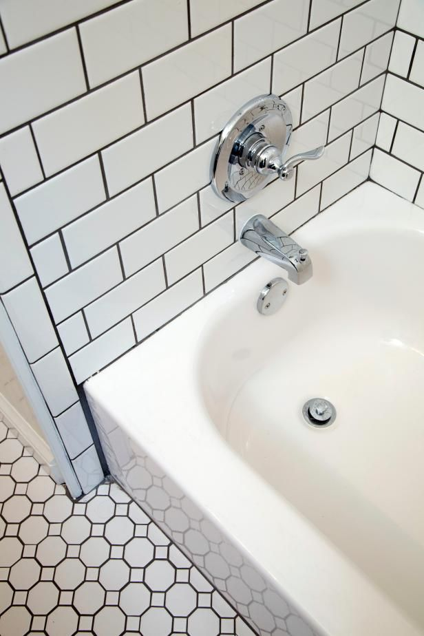Bathroom Tiles With Dark Grout white penny tile floor with black grout | bathrooms | pinterest