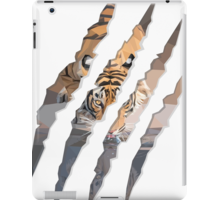 Tiger Drinking Water Inside Tiger Claw Marks By Erinfcampbell Redbubble Geometric Animals Tiger Claw Tiger