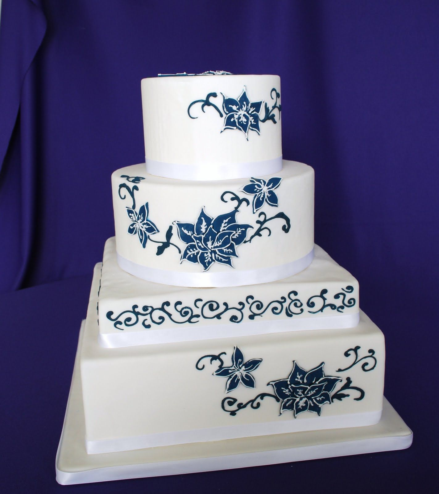 unique_4_tier_blue_wedding_cake.jpg (1423×1600) | wedding cake ideas ...