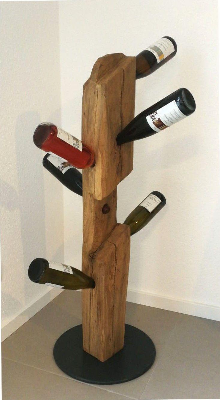 Weinständer, Weinregal, Flaschenhalter, rustikal, handgemacht