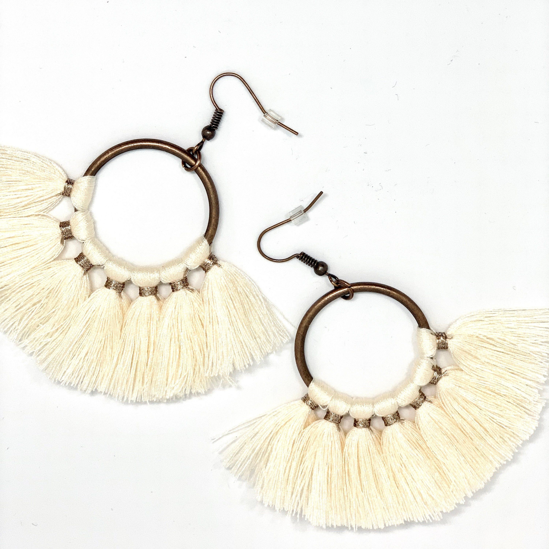 Bronze earrings Mandala jewellery Dangling earrings Bohemian vintage earrings