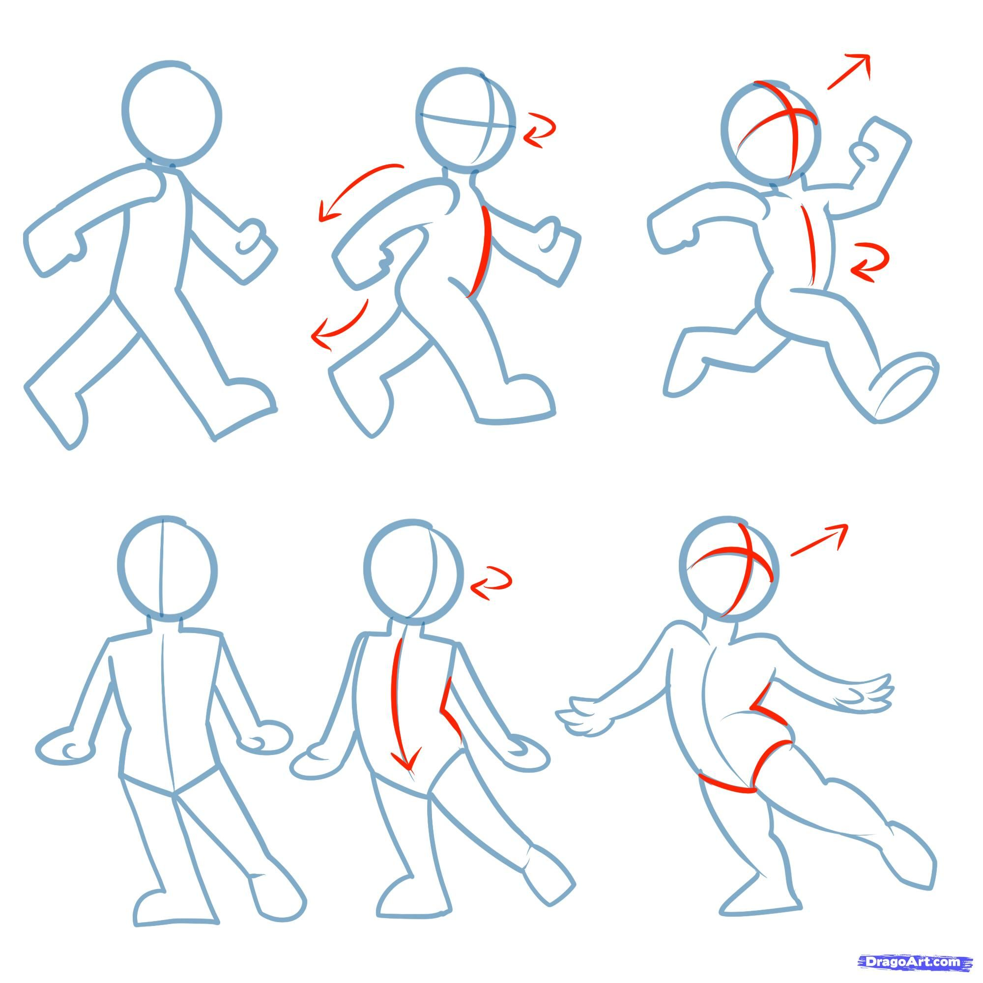 Step 5 How To Draw Action Poses Cartoon Drawings Figure Drawing Drawing Tutorial