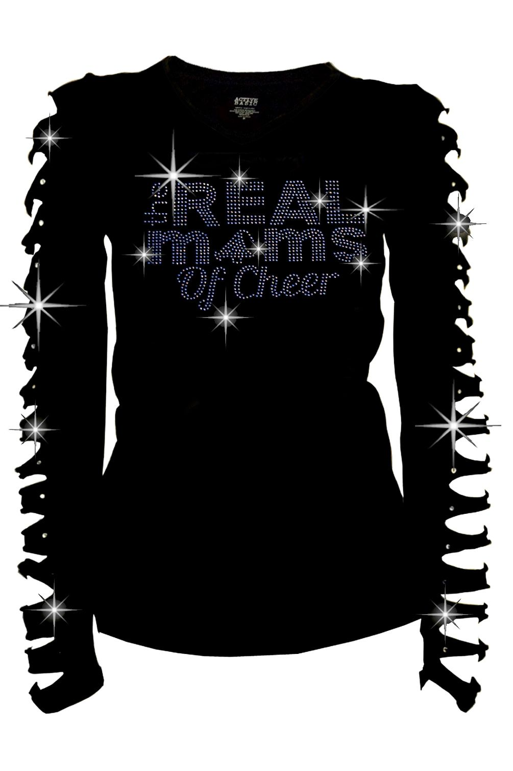 Endeavor flannel shirt  Cheer Mom Shirt The Real Moms of Cheer BLING BLING RhinestoneRipped