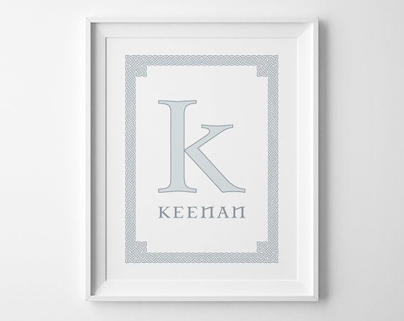 Personalized baby gift baby boy nursery art irish baby gift baby boy nursery art personalized irish baby gift celtic knot kids wall art negle Choice Image
