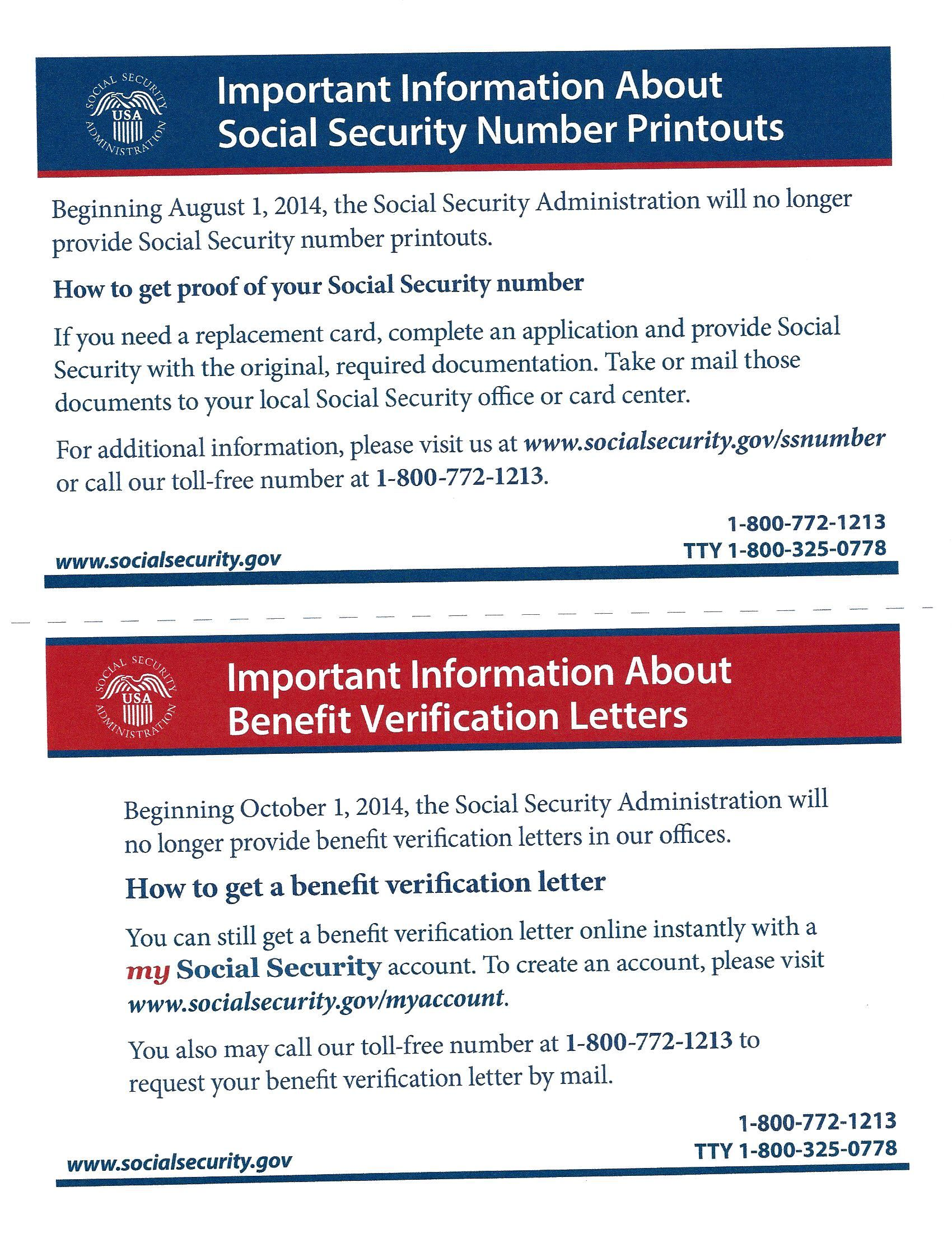 Social Security Administration  Important Information Changes In