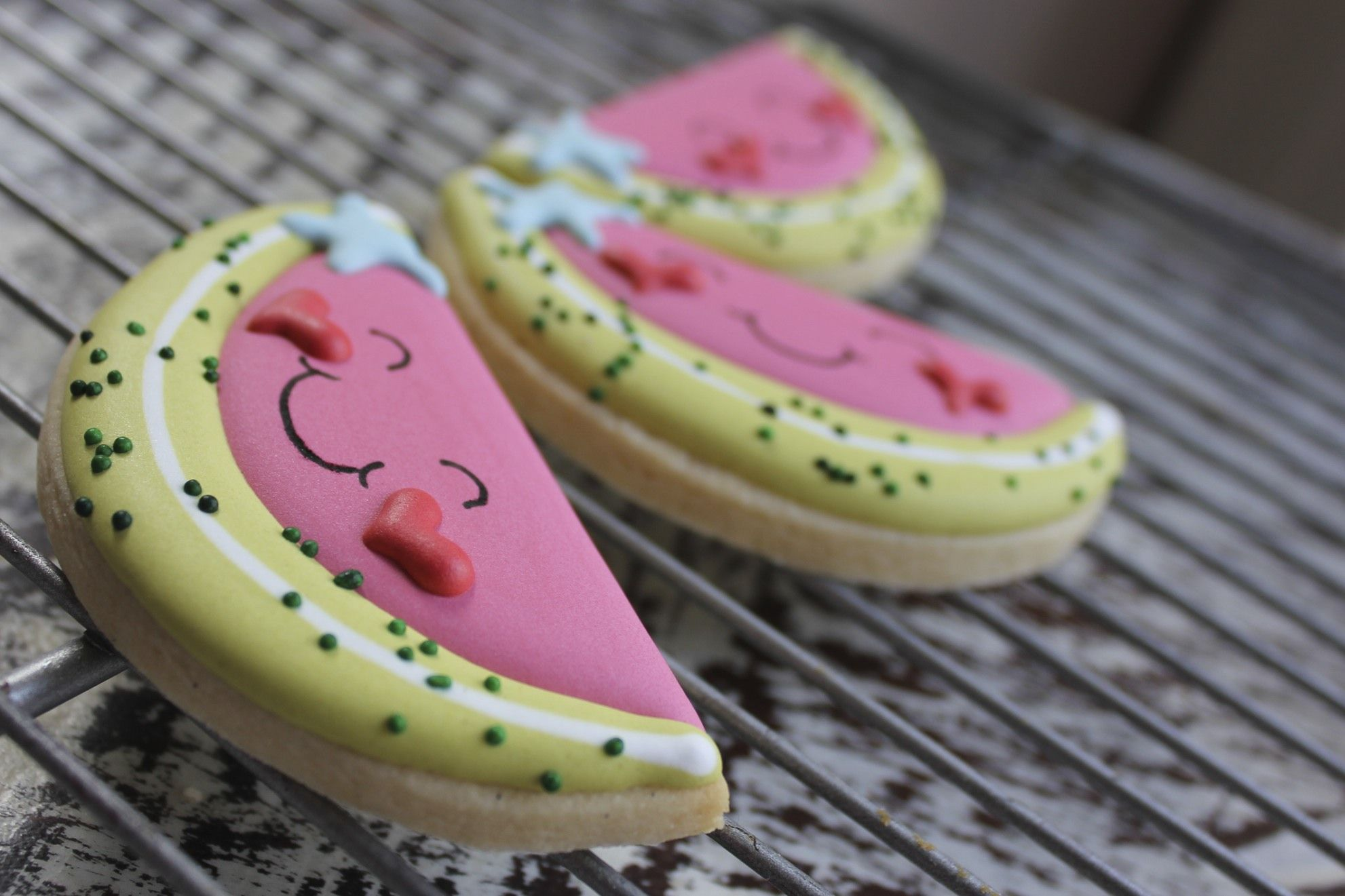 paddle attachment watermelon cookies valentine cookies cute cookies pinterest