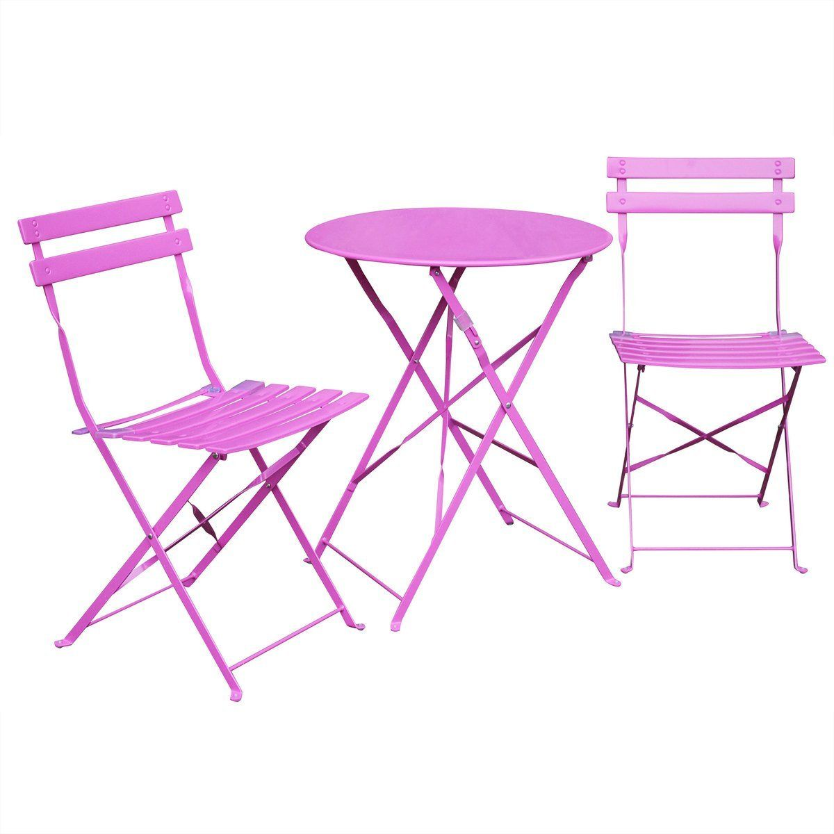 alice 39 s garden salon de jardin bistrot pliable emilia rond rose table ronde 60cm avec. Black Bedroom Furniture Sets. Home Design Ideas