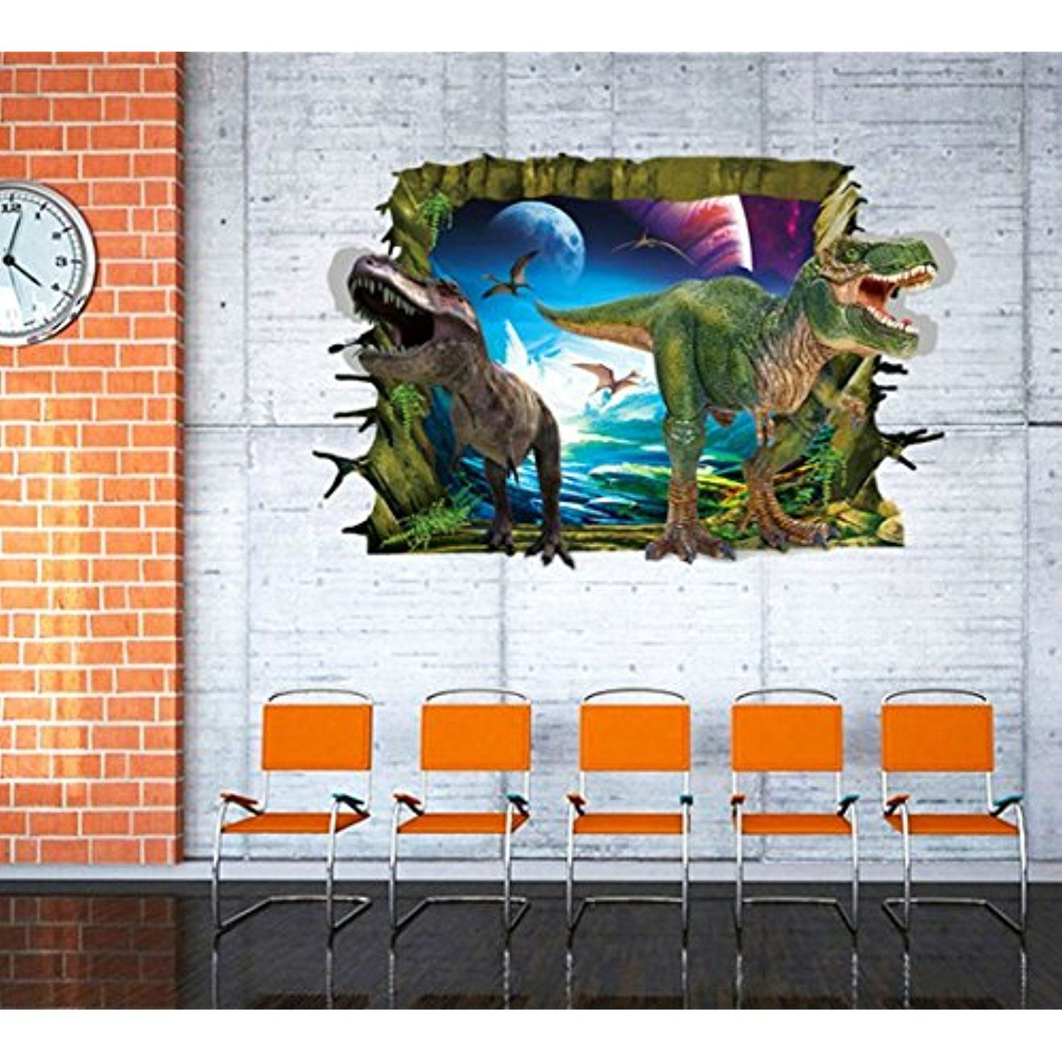 Home Decor Wall Art Dinosaur Stickers Removable Vinyl Wall Decals