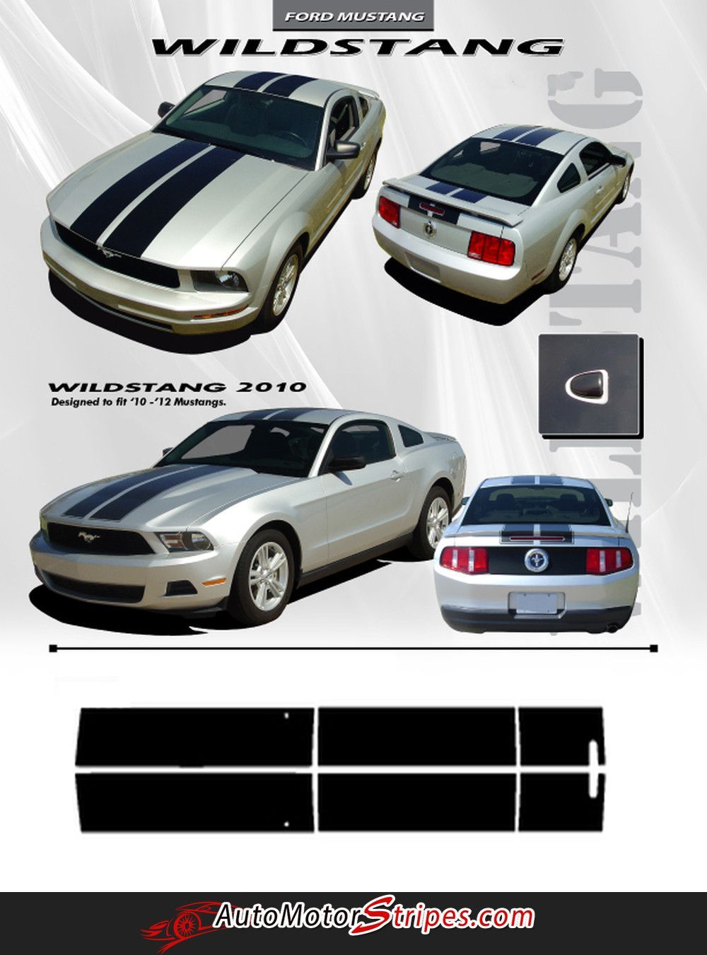 2010 2012 Ford Mustang Wildstang Racing And Rally Stripes 3m Vinyl Decal Graphics 2009 Ford Mustang 2012 Ford Mustang Ford Mustang
