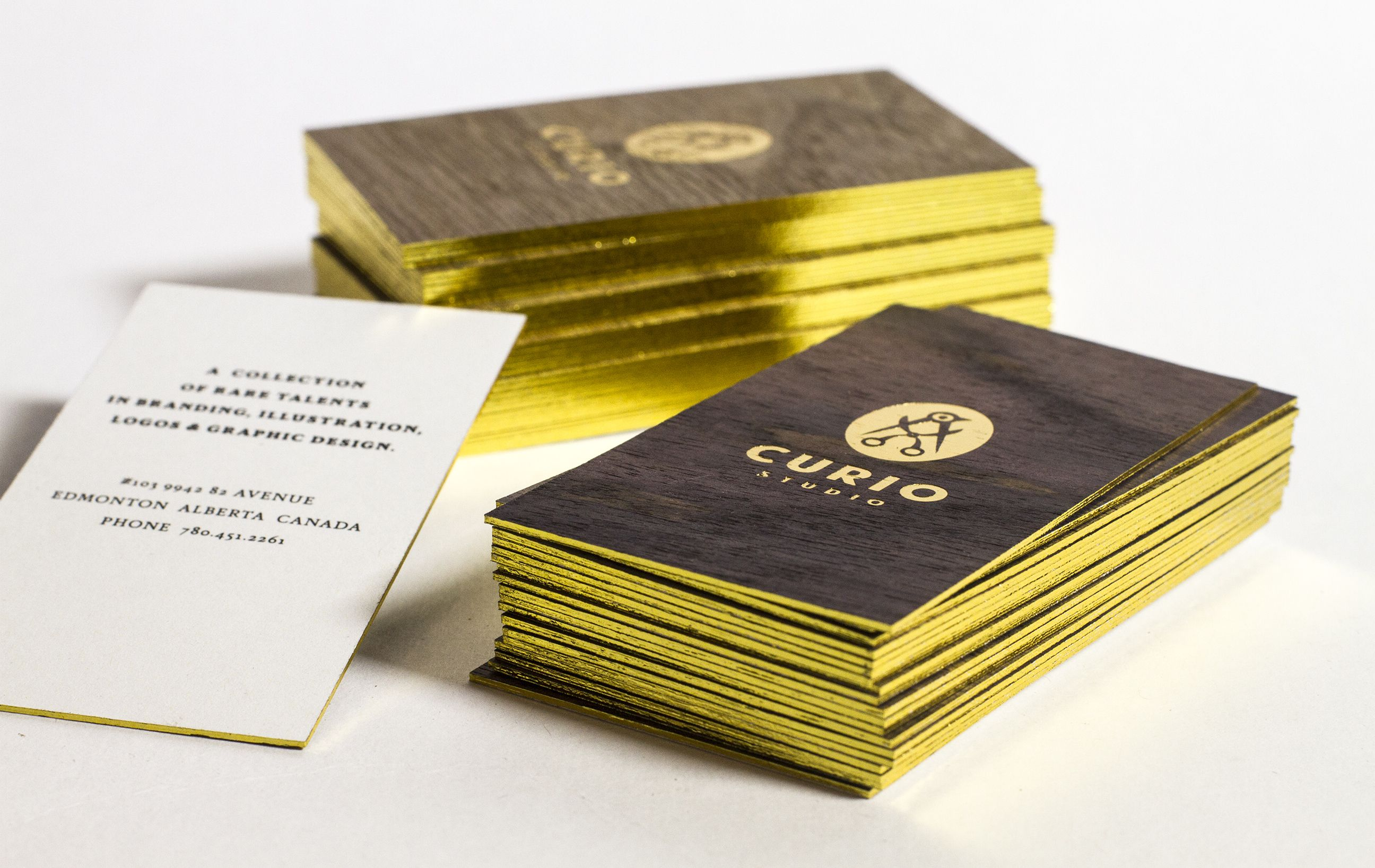W1s Wooden Business Cards With White Backing Gold Foil Stamping And Gold Foil Edges Jukeboxprin Foil Business Cards Wooden Business Card Wood Business Cards