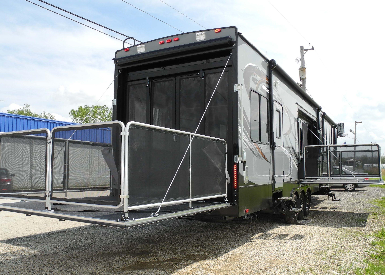 wonderful rv trailer with garage #2: 2015 CYCLONE THOR 4200 TOY HAULER FIFTH WHEEL RV RAMP DOOR GARAGE TWO BA.