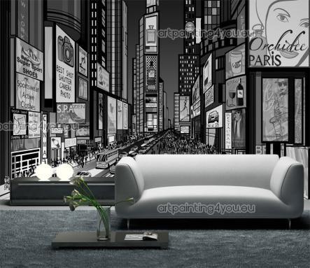 Times square new york une large gamme de produits décoratifs papier peint photo murale poster mural grand format xxl trompe loeil des idées p