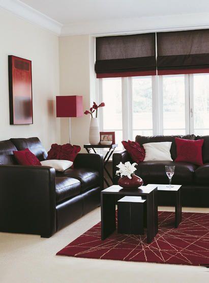 Brown And Black Living Room Designs: Bordó-krém-fehér Nappali