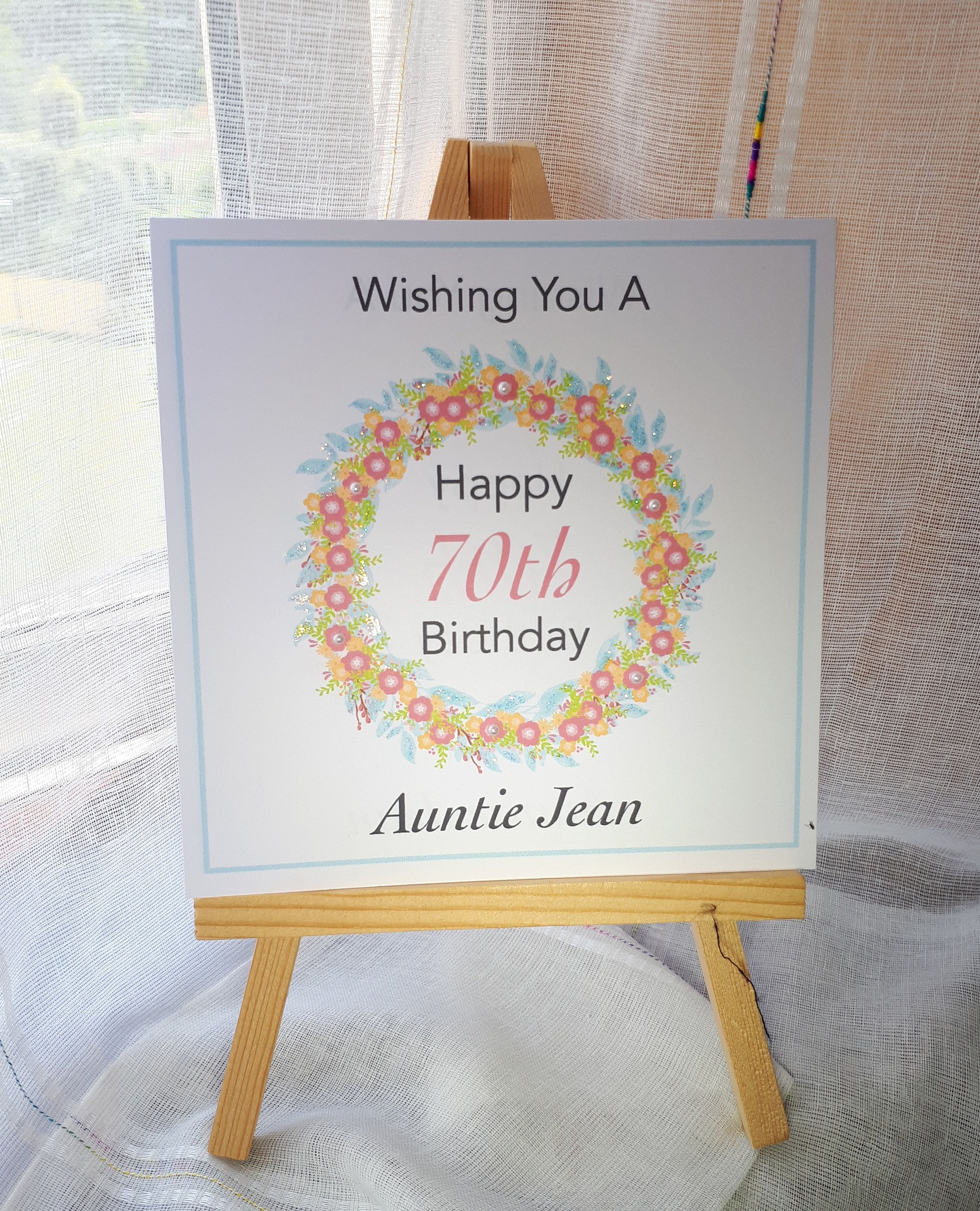 70th Birthday Card For A Female Personalised And Handmade Etsy 70th Birthday Card Birthday Cards 70th Birthday