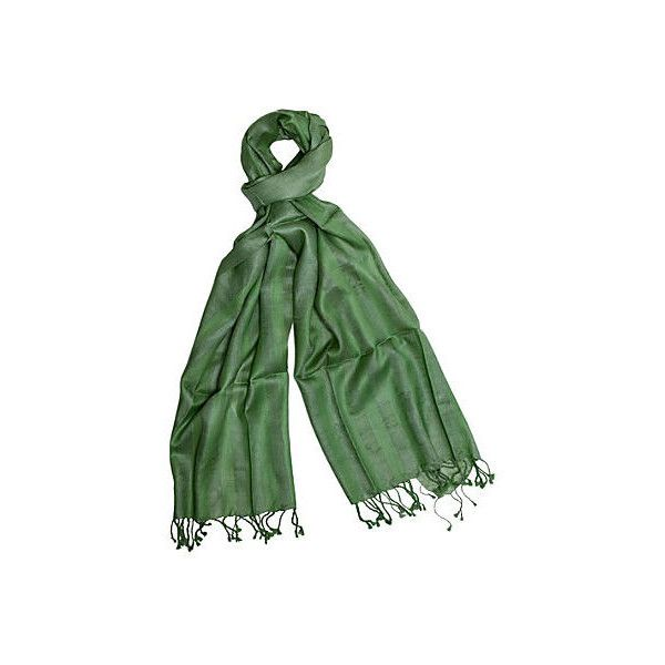 Handmade Silk Herringbone Scarf Green Cashmere Scarves ($59) ❤ liked on Polyvore featuring accessories, scarves, green, pure silk scarves, fringe scarves, green scarves, cashmere shawl and silk shawl