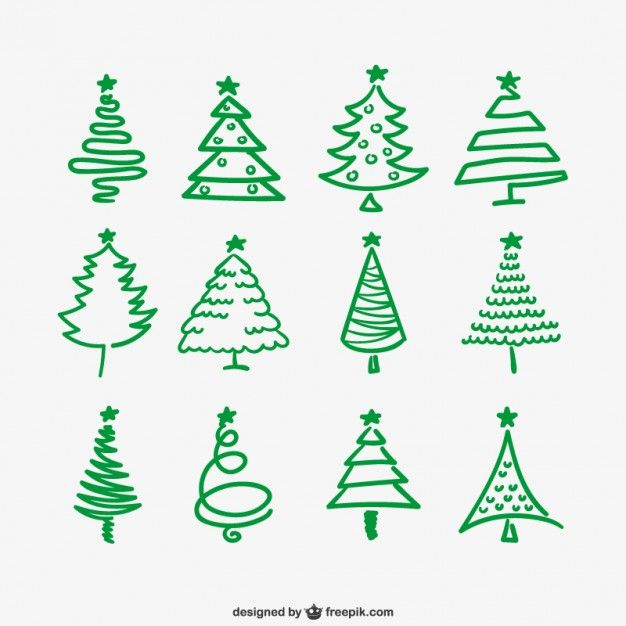 Download Green Christmas Trees Outlines For Free Christmas Tree Drawing Christmas Tree Outline Christmas Drawing