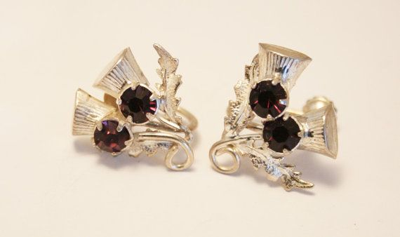98398da85 Vintage Scottish thistle earrings. by chicvintageboutique on Etsy ...