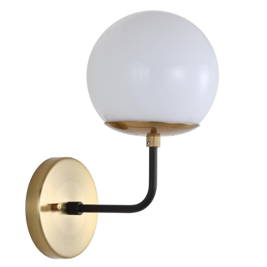 Safavieh Cayden 6 In W 1 Light Brass Gold Black French Country Cottage Wall Sconce At Lowes Com Sconces Wall Sconces Wall Sconce Lighting