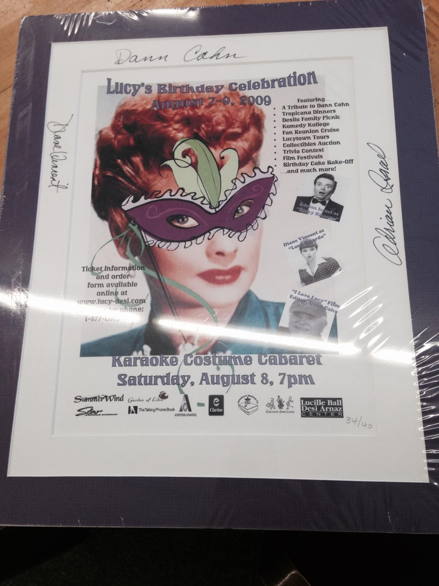 Aug u signed festival poster festival posters and products