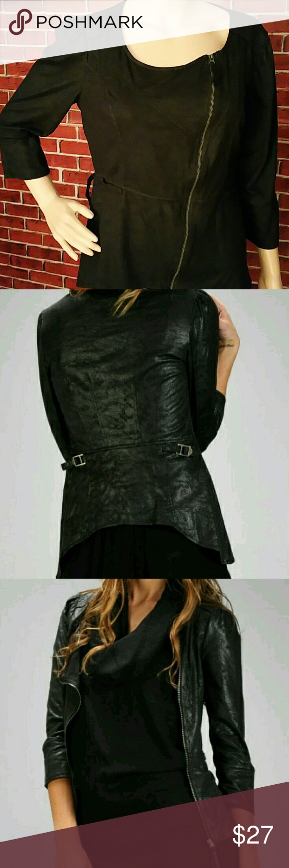 Faux Leather Jacket Faux Leather Jacket. This faux leather