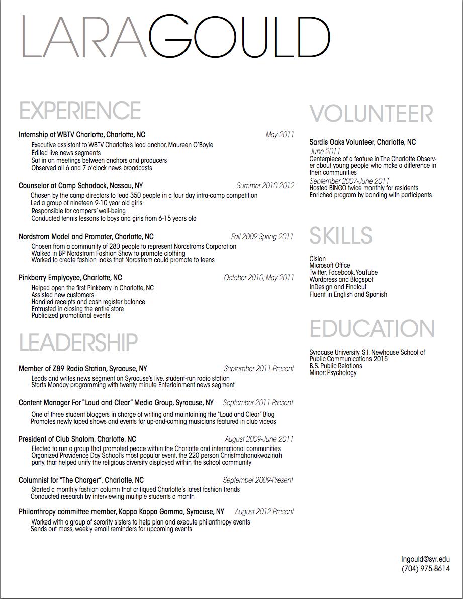 Pin by Lauren Jenison on Resume Ideas | Resume outline ...