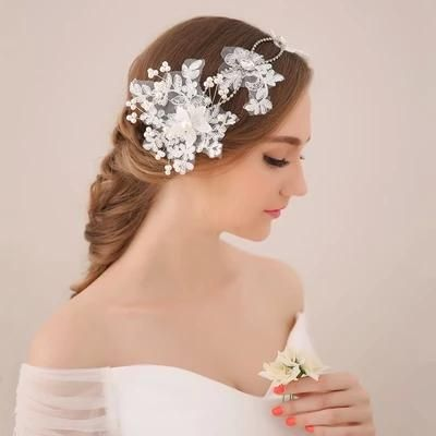 2015 Hot Design Korean Style Wedding Hair Accessories Amazing Bridal Headwear Handmade Flowers Pearls Women Party