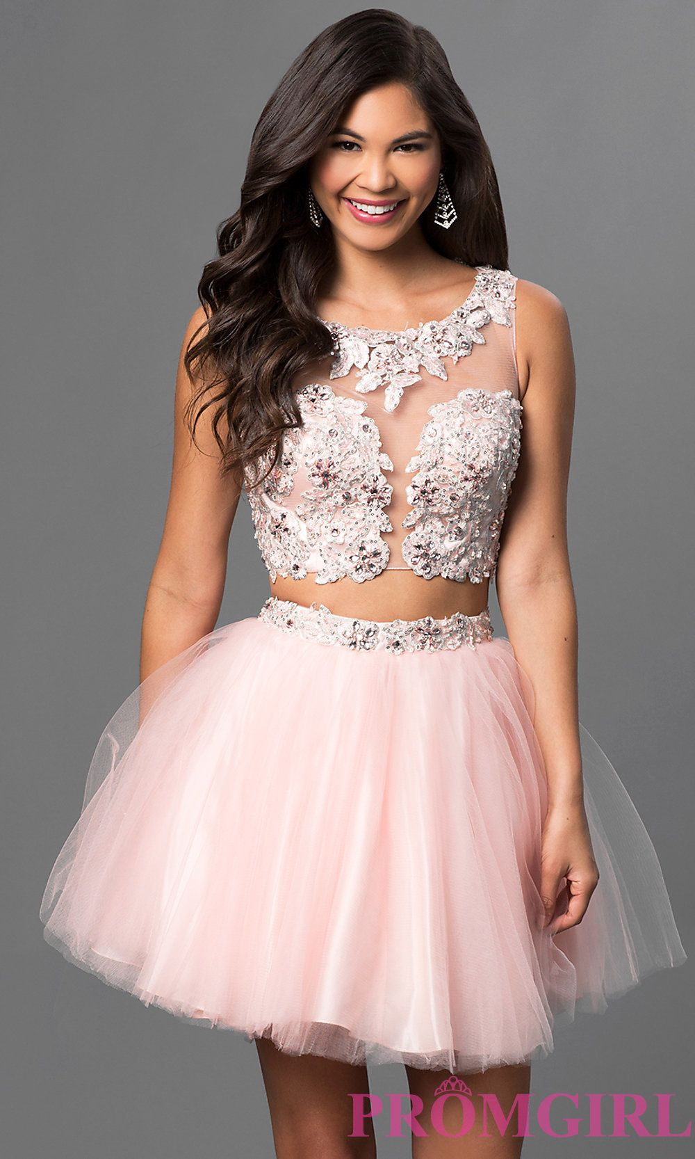 Twopiece pink babydoll party dress by dave u johnny homecoming