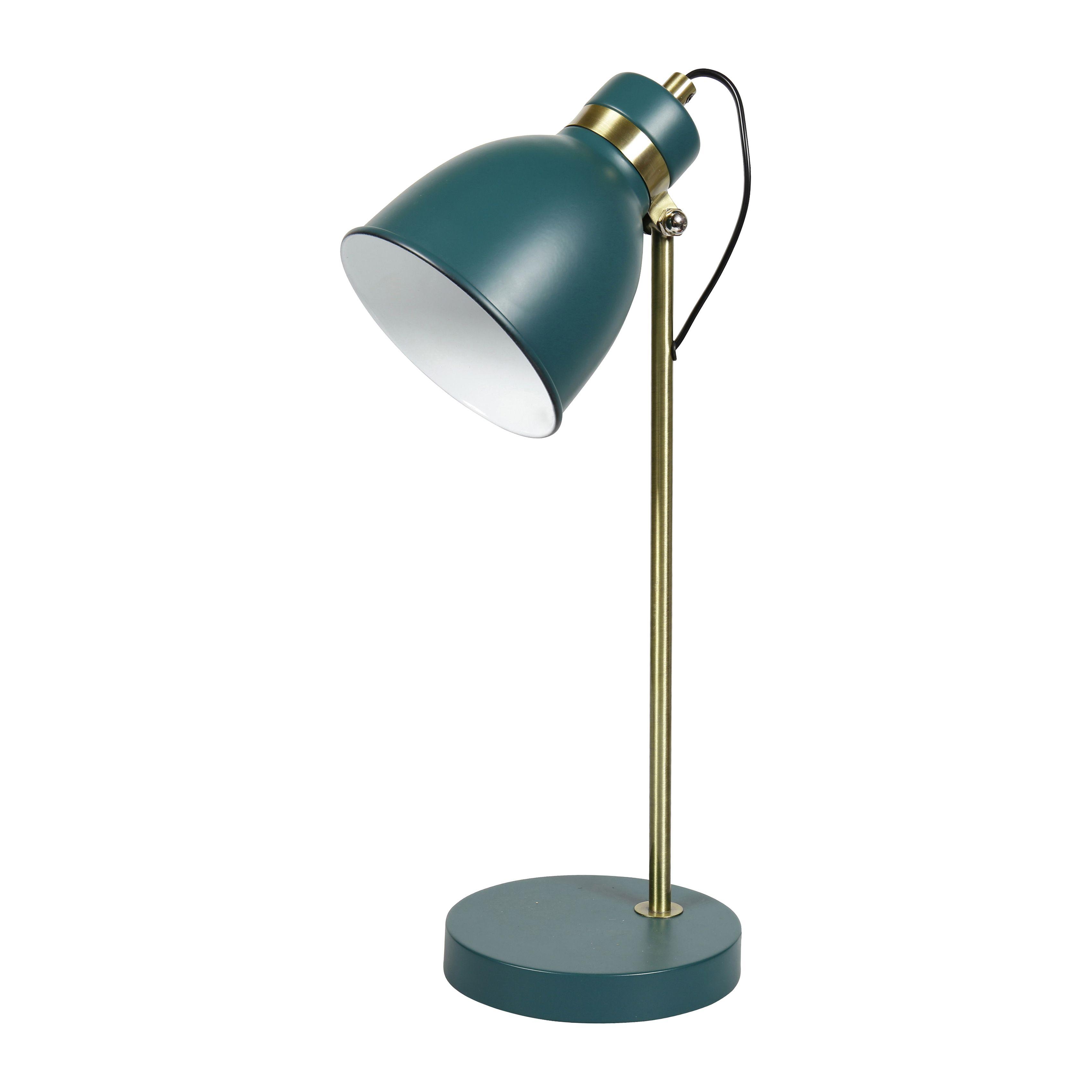 Lampe Bureau Metal Verte Et Doree Lampe De Bureau Bureau Metal Lamp