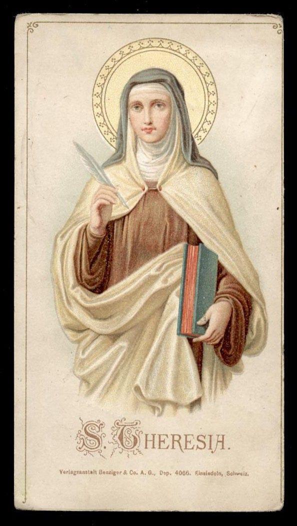 Pin De Rocío Tellez Em Santos Teresa De Jesus Imagens Religiosas Anjos