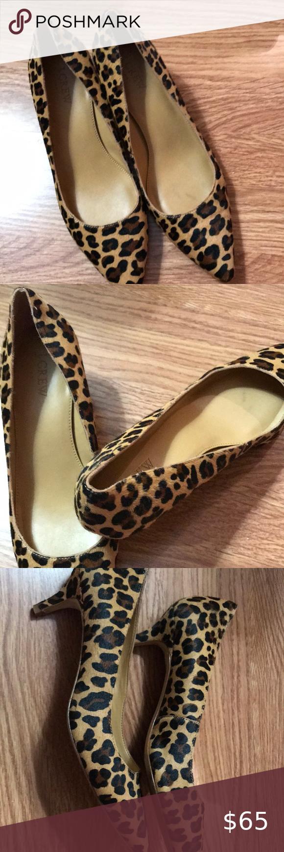 Jcrew Leopard Calf Hair Kitten Heels 9 In 2020 Shoes Women Heels Kitten Heels Heels